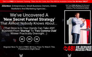 Screenshot of the Secret Funnel St