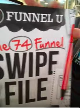 Get the 74 Funnel Swipe File Book For Free when you donate to the operations underground railroad project